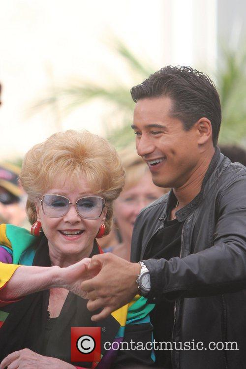 Debbie Reynolds and Mario Lopez at The Grove...