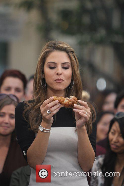 maria menounos at the grove to film 5742565
