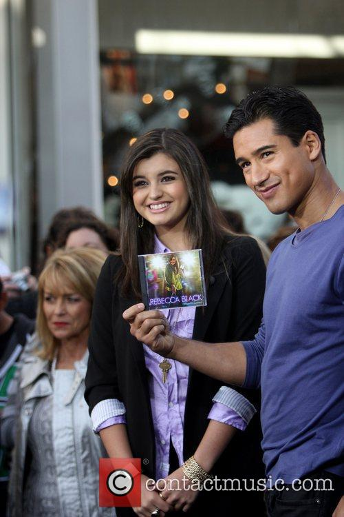 Rebecca Black and Mario Lopez 2