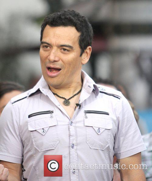 Carlos Mencia Celebrities filming an appearance on entertainment...