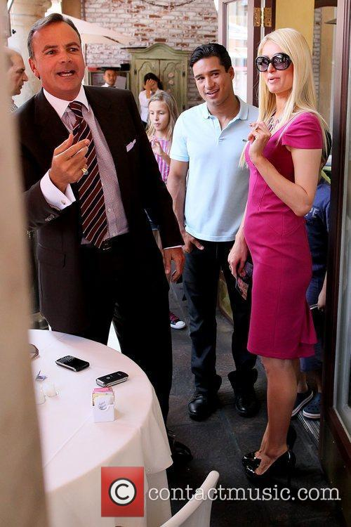 Mario Lopez and Paris Hilton Paris Hilton at...