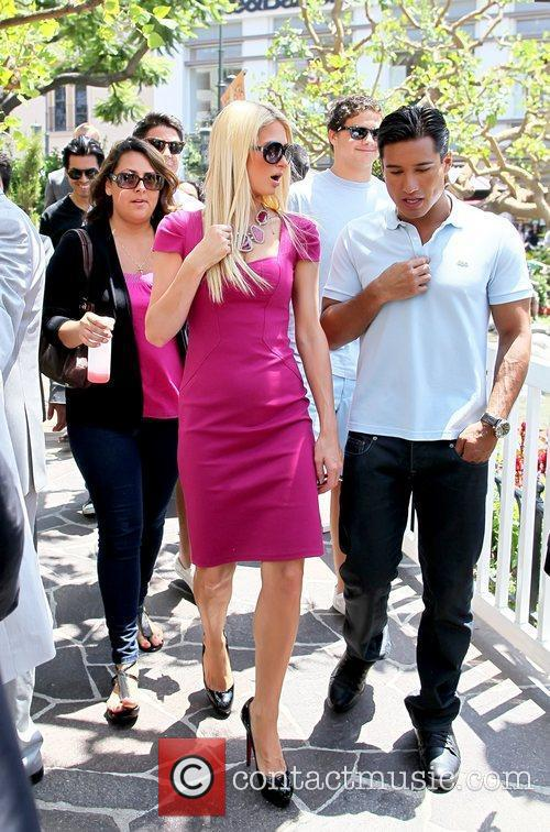 Paris Hilton at The Grove for an interview...