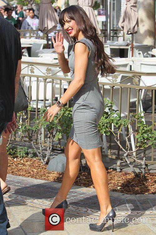 Pregnant star at The Grove in Hollywood for...