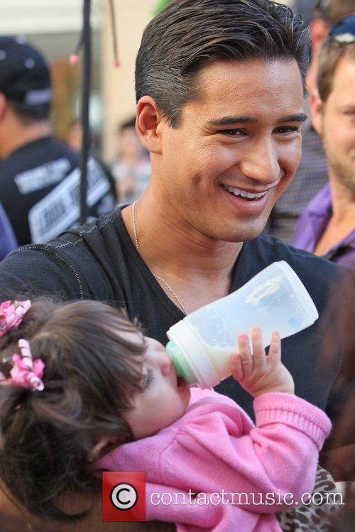 Mario Lopez at The Grove to film an...
