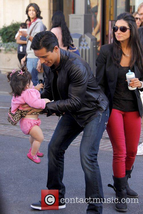 Mario Lopez and daughter Gia Lopez at The...