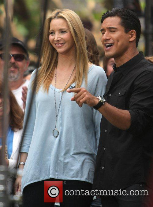 Lisa_Kudrow at The Grove for an interview on...