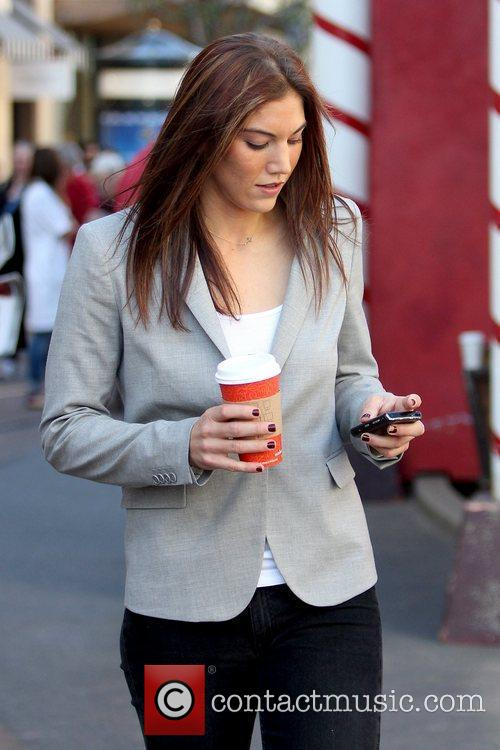 Hope Solo at The Grove to film an...