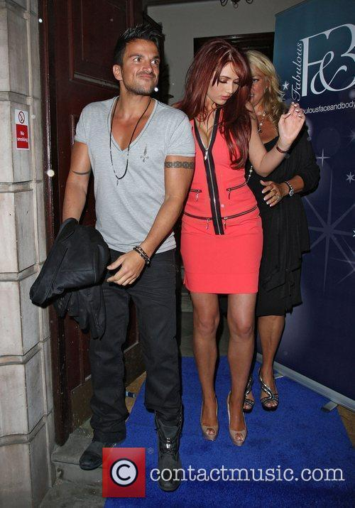 Peter Andre and Amy Childs,  at the...
