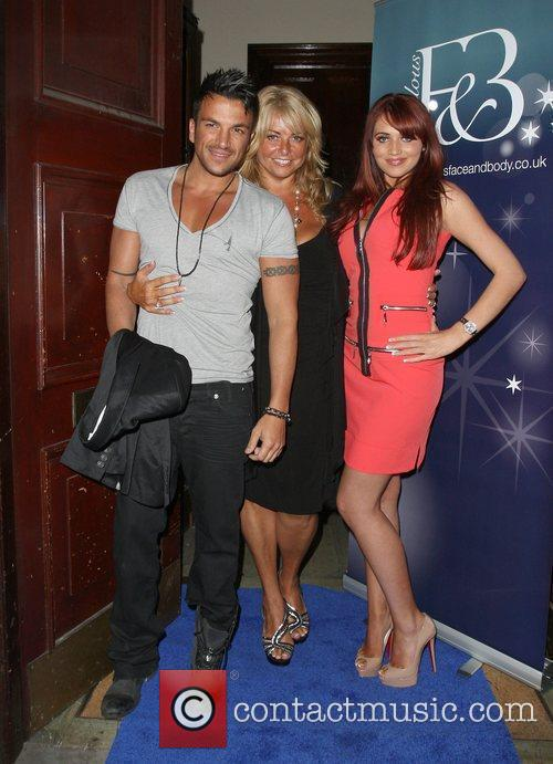 Peter Andre and his manager, Claire Powell with...