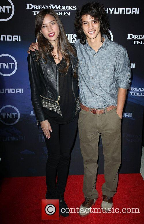 Kelsey Chow and guest The Premiere of TNT...