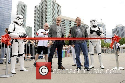 Ribbon-cutting ceremony at the 2011 Fan Expo Opening...