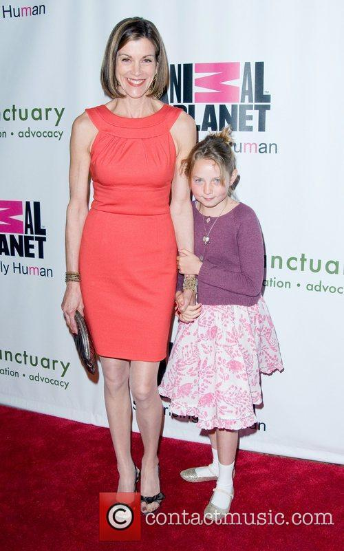 Wendie Malick with her niece Farm Sanctuary's 25th...