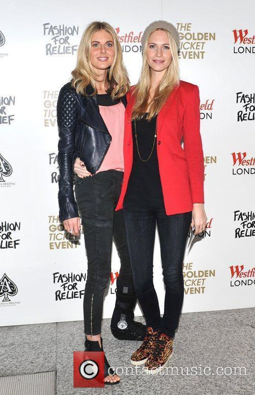 Donna Air and Poppy Delevigne Naomi Campbell launches...