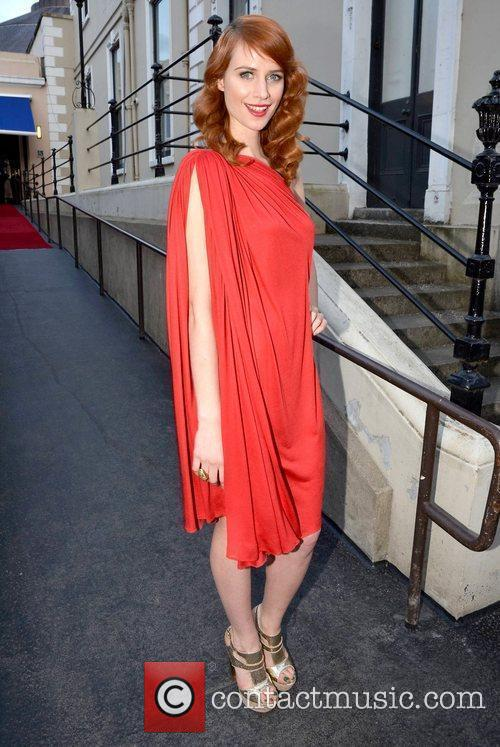 Faye Dinsmore arrives at the Faye Dinsmore's Fashion...