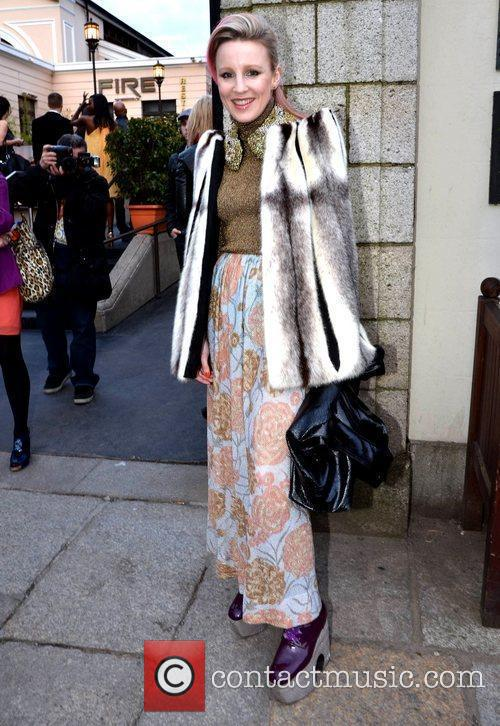 Joanne Hynes arrives at the Faye Dinsmore's Fashion...