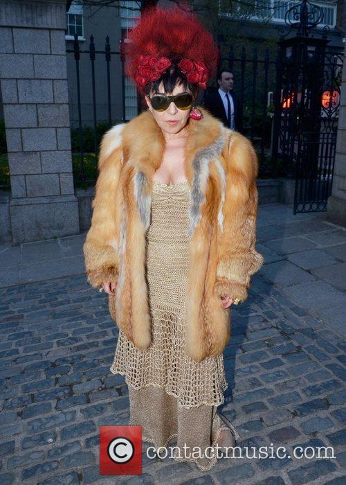Maria Fusco arrives at the Faye Dinsmore's Fashion...