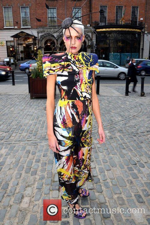 Deirdre Morrissey arrives at the Faye Dinsmore's Fashion...
