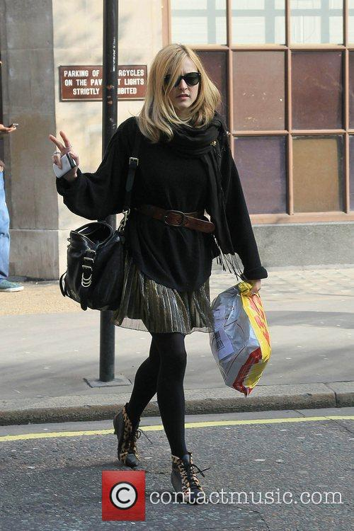 Fearne Cotton outside the BBC Radio One studios...