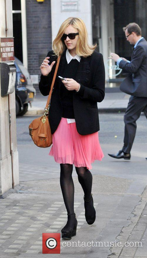 Fearne Cotton arriving at BBC Radio One studios