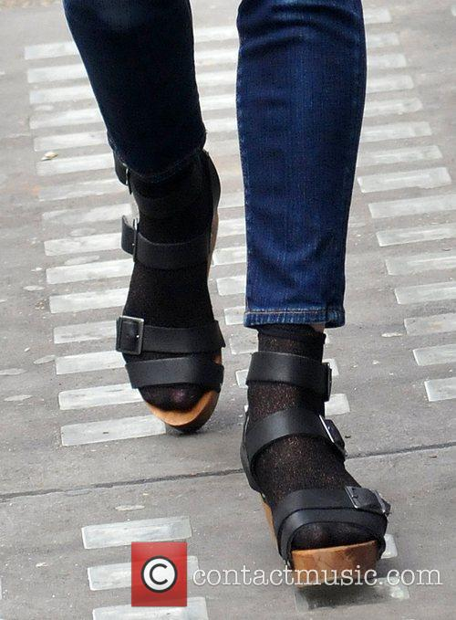 Fearne Cotton's shoes Fearne Cotton outside the BBC...