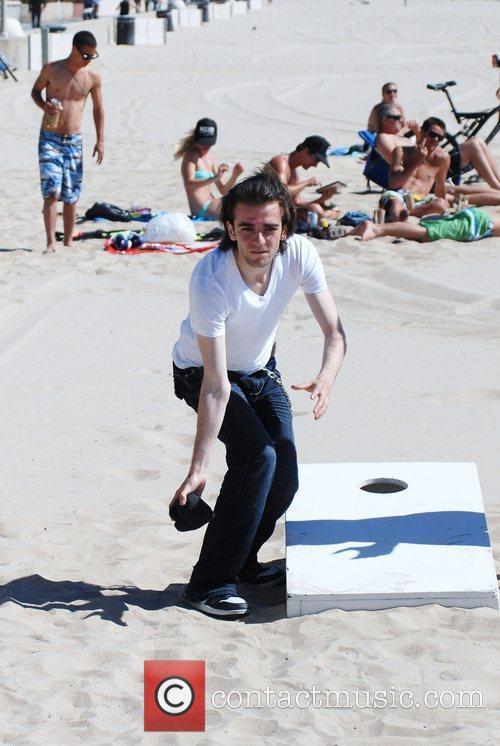 Felix Ryan spotted playing Cornhole in Hermosa Beach...