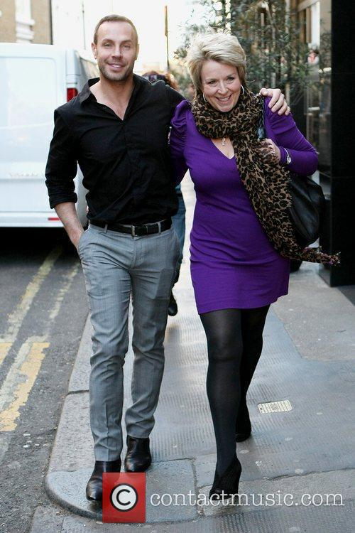 Fern Britton and friend leave The Ivy restaurant...