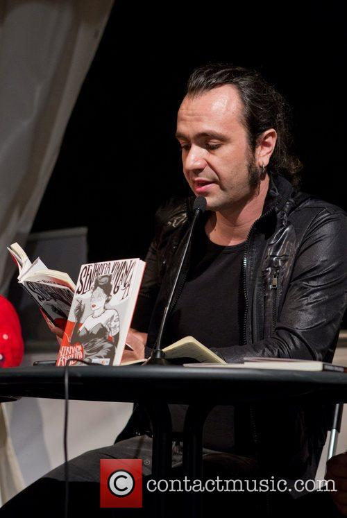 Presents his new book 'Senhora Vinganca' (Lady Vengeance)...