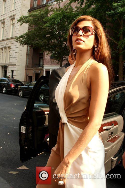 Eva Mendes  attends the Ferragamo presentation for...
