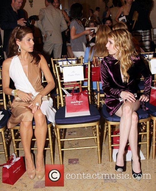 Eva Mendes and Emma Watson  The Ferragamo...