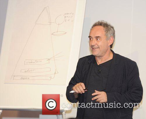 At an 'Evening with Ferran Adria' event at...