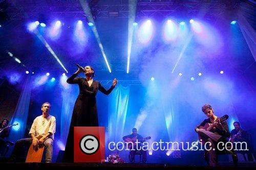 Performing live at the Festas do Mar at...