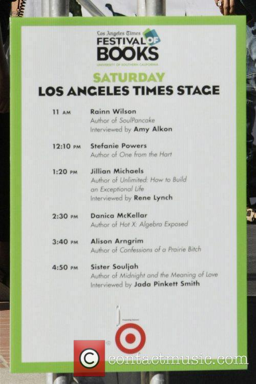 Atmosphere Celebrities seen at the LA Times Festival...