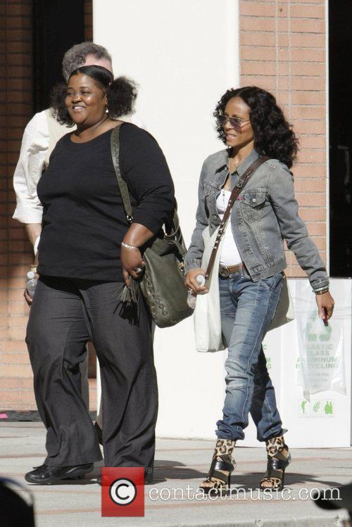 Sister Souljah, Jada Pinkett Smith Celebrities seen at...