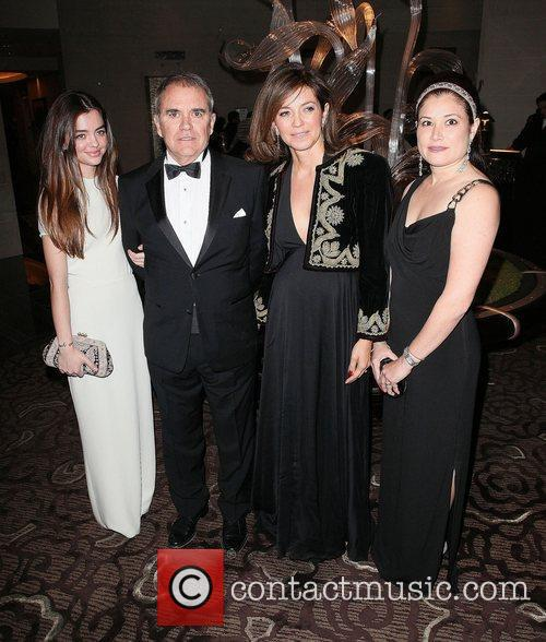 Artist and Honoree Julio Larraz, and Family...