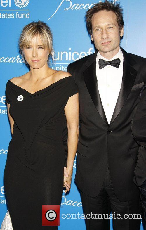 *file photo* * DUCHOVNY & LEONI SPLIT AGAIN...