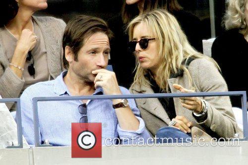 *file photo* * DUCHOVNY & LEONI SPLIT AGAIN...