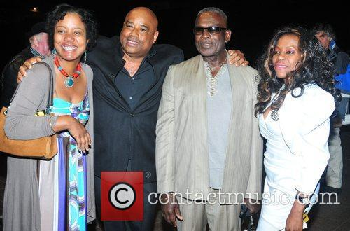 Rudolph Walker (second from right) and guests,...