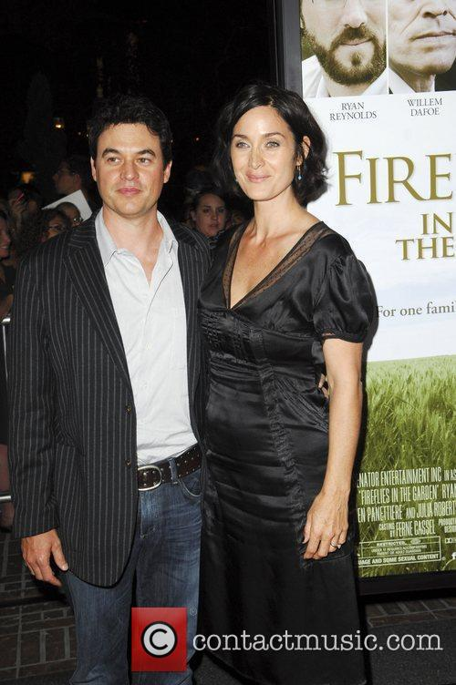 Carrie-Anne Moss, husband Steven Roy  The Premiere...