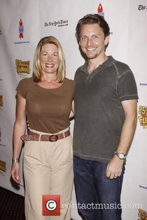Marin Mazzie And Jason Danieley and Times Square 7
