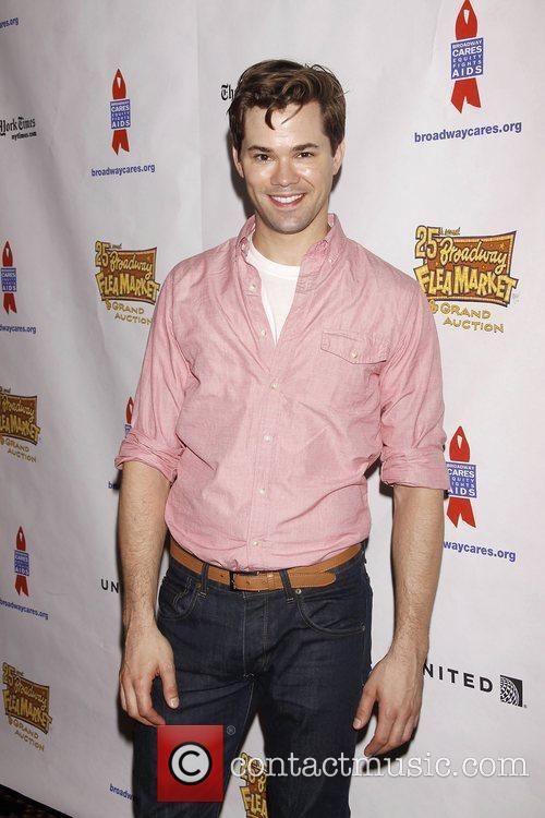 Andrew Rannells and Times Square