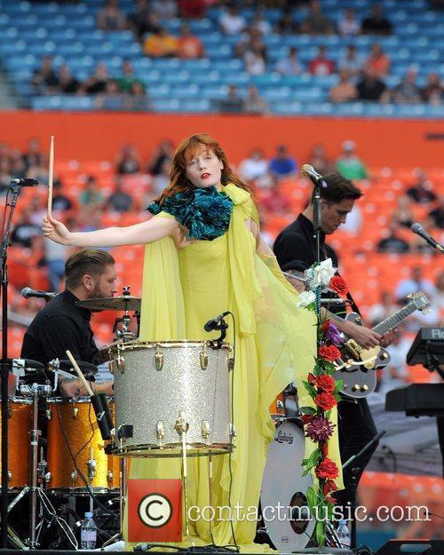Florence Welch Florence + The Machine perform during...