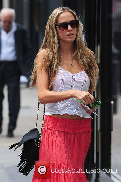 Florence Brudenell-Bruce out and about in west London...