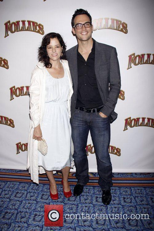 Parker Posey and Cheyenne Jackson Opening night of...