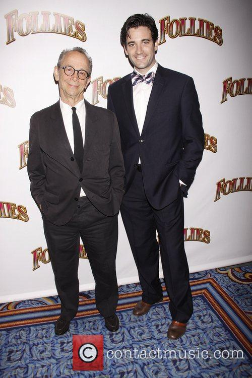 Joel Grey and Colin Donnell Opening night of...