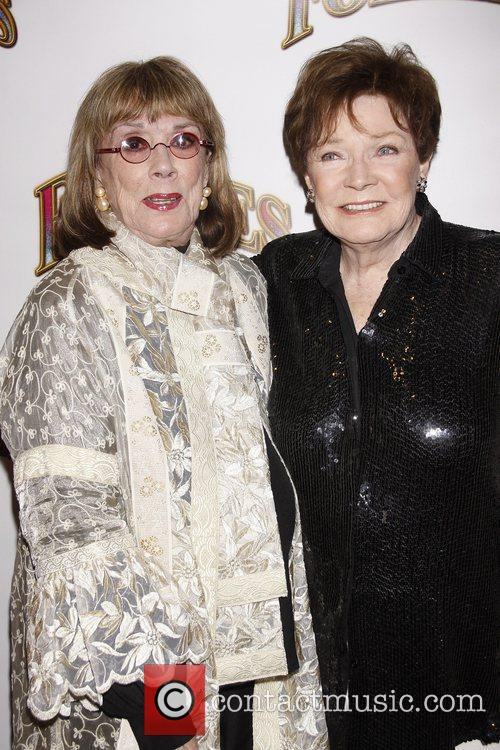Phyllis Newman and Polly Bergen Opening night of...