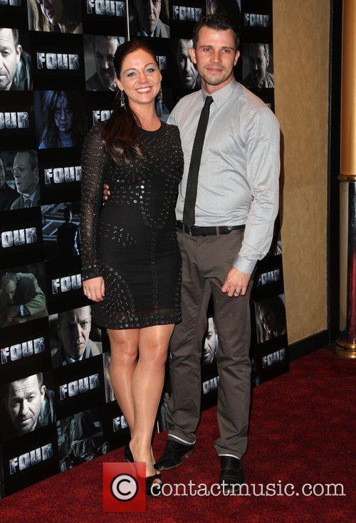 Neil Mcdermott and girlfriend Four UK film premiere...