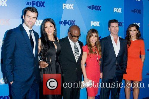 Steve Jones, Cheryl Cole, Nicole Scherzinger, Paula Abdul and Simon Cowell 4