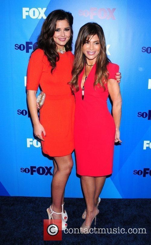 Cheryl Cole and Paula Abdul FOX upfront presentation...