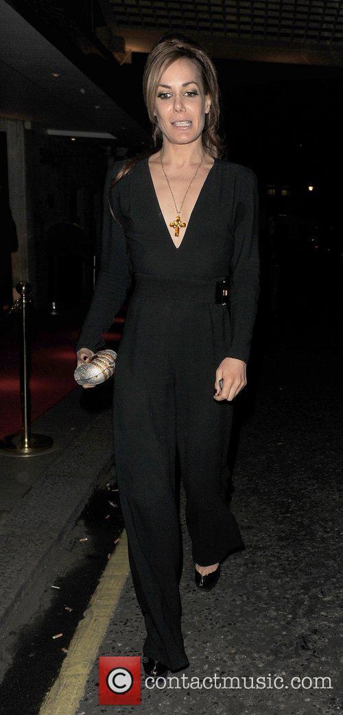 Tara Palmer-Tomkinson leaving the Savoy Hotel, having attended...