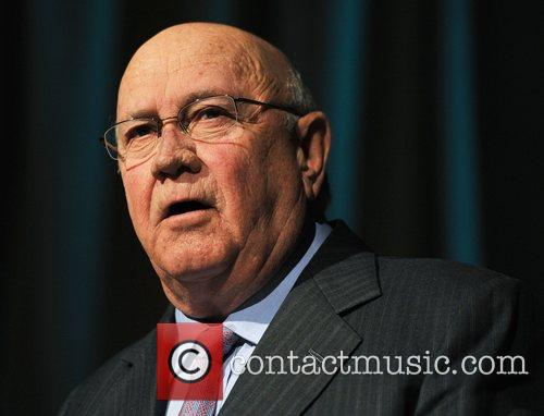 Frederik De Klerk speaks at the 'Anne Frank...